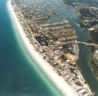 Mid And South End Of Belleair Beach Florida From